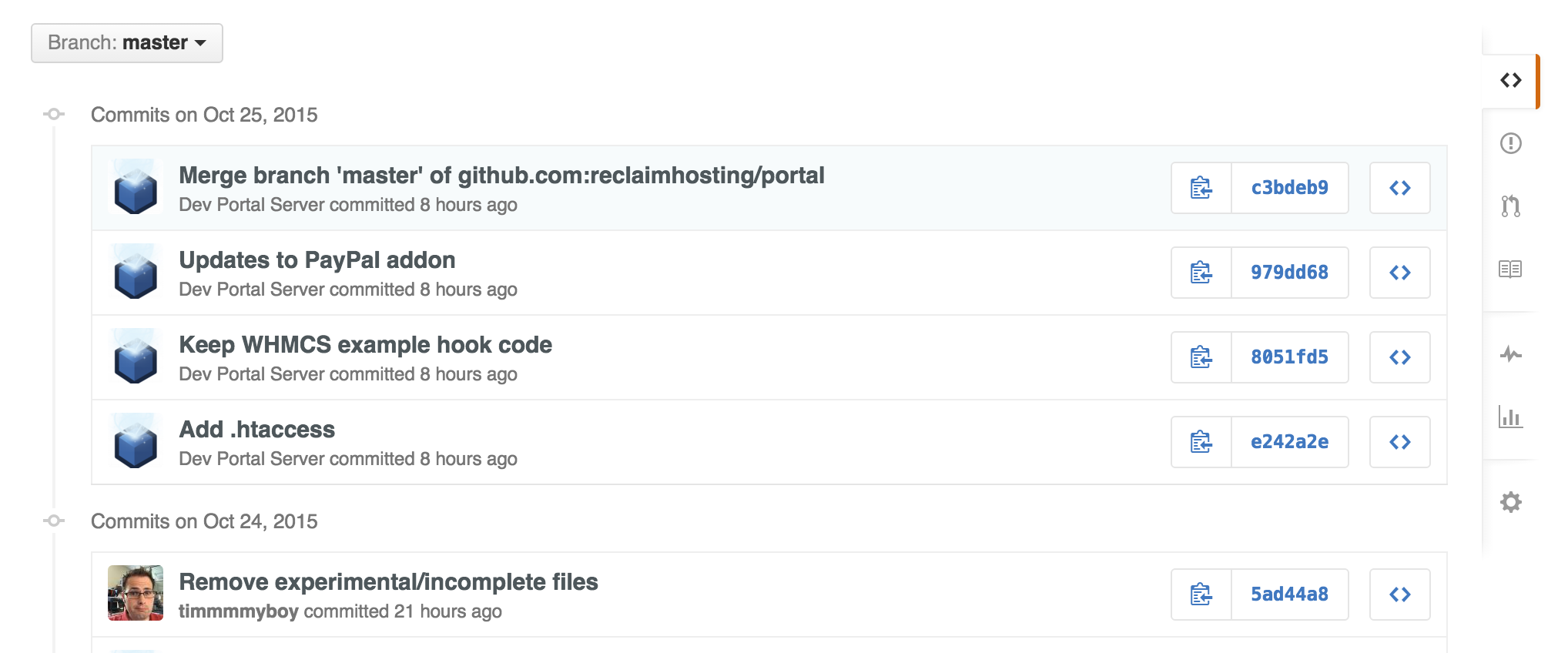 Recent Changes in GitHub