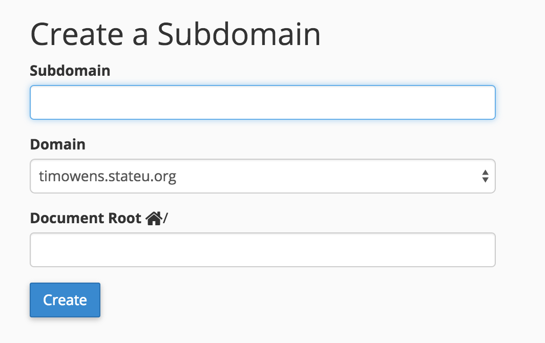 Subdomain Interface
