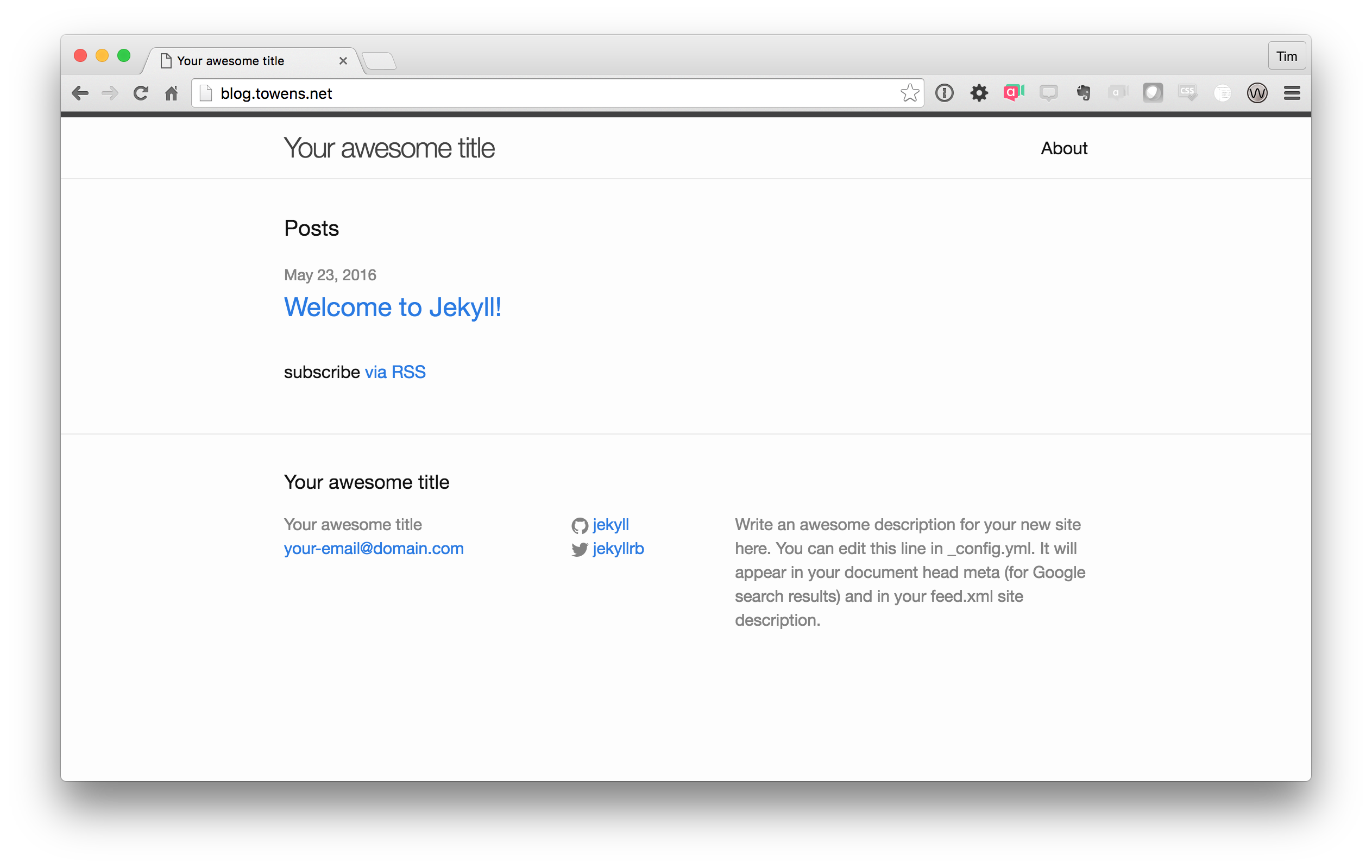 Running a Jekyll Site on Reclaim Hosting