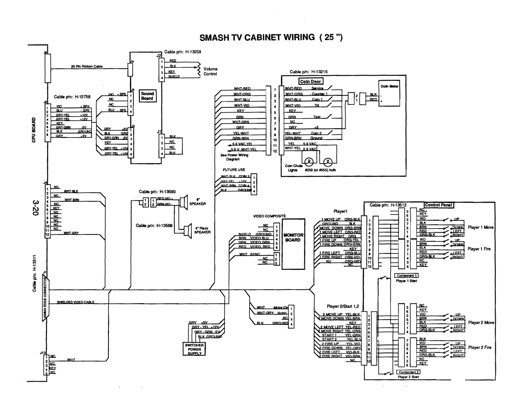 Smash TV Cabinet Wiring Diagram